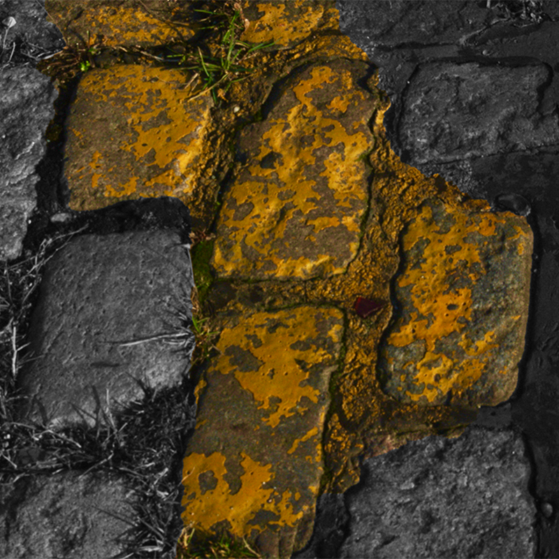 Splattered yellow paint